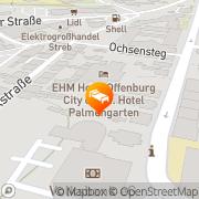 Karte Balladins Hotel Palmengarten Offenburg, Deutschland