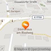 Karte Gästehaus am Riedweg Mannheim, Deutschland