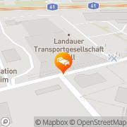 Karte ACHAT Comfort Hotel Mannheim/Hockenheim Hockenheim, Deutschland