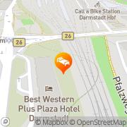 Karte Hotel Maritim Darmstadt, Deutschland