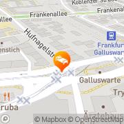 Karte An der Galluswarte Frankfurt am Main, Deutschland
