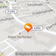 Karte Hotel Vorfelder Walldorf, Deutschland