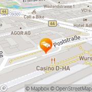 Karte Steigenberger Hotel Metropolitan Frankfurt am Main, Deutschland