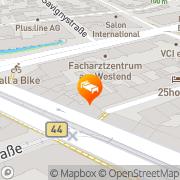 Karte Manhattan Hotel Frankfurt am Main, Deutschland