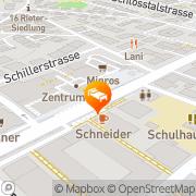 Karte Zentrum Töss Winterthur, Schweiz