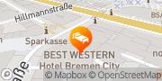 Karte Best Western Hotel Bremen City Bremen, Deutschland