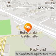 Karte An der Waldstraße Groß-Zimmern, Deutschland