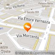 Map Hotel Bristol Palace Genoa, Italy