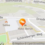 Karte Hotel Berlin Sindelfingen, Deutschland