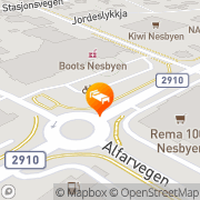 Map Ranten Hotel Nesbyen, Norway