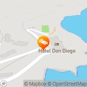 Map Hotel Don Diego Porto San Paolo, Italy