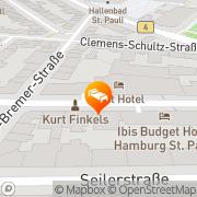 Karte EAST Hotel Hamburg, Deutschland