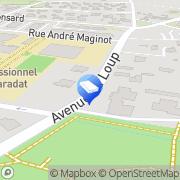 Carte de Serou Pau, France