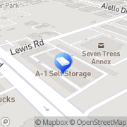 Map A-1 Self Storage San Jose, United States