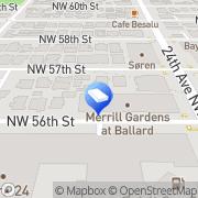 Map Merrill Gardens at Ballard Seattle, United States