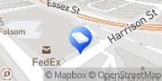 Map Bright Horizons at 2nd Street San Francisco, United States
