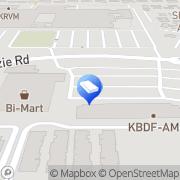 Map Bi-Mart Membership Discount Stores Eugene, United States