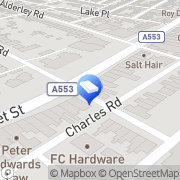Map Quinns Funeral Directors Wirral, United Kingdom