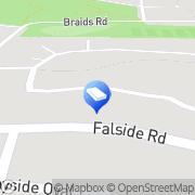 Map Gastex Renfrewshire Paisley, United Kingdom