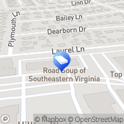 Map 24/7 Locksmith Virginia Beach, United States