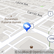 Map Donaldson Funeral Home P. A. Laurel, United States