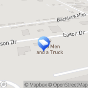 Map Two Men and a Truck Pooler, United States