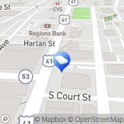 Map Charles A. Hall, CPA Calhoun, United States