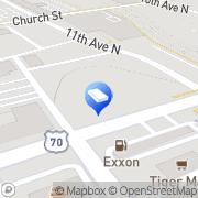 Map Tennessee LOCALiQ Nashville, United States