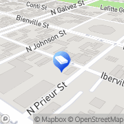 Map Just Courier New Orleans, United States