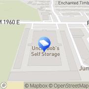 Map Life Storage Humble, United States