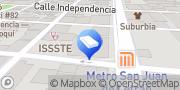 Map Plaza Victoria Mexico City, Mexico