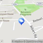 Map Ashdown Funeral Services Belvedere, United Kingdom