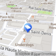 Carte de Desim Rouen, France