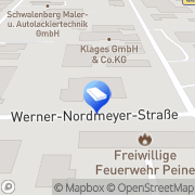 Karte Malerbetrieb Peine, Deutschland