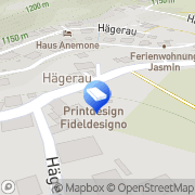 Karte FidelDesigno - webdesign & printdesign Steeg, Österreich