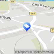 Karte Wohnstättengenossenschaft Bad Oldesloe, Deutschland