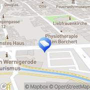 Karte Schmiedel Immobilienmakler Wernigerode, Deutschland