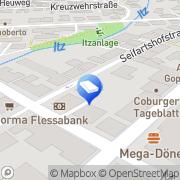 Karte Matthias Ernst Rechtsanwalt Coburg, Deutschland