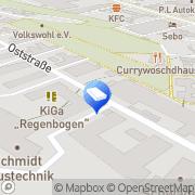 Karte Rowo-pack Lohnverpackung Fürth, Deutschland