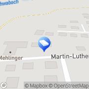 Karte Georg Mehlinger oHG Inh. Stefanie Mehlinger-Sperber u. Erwin Mehlinger Eckental, Deutschland