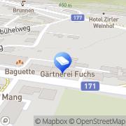 Karte Gärtnerei Fuchs Zirl, Österreich