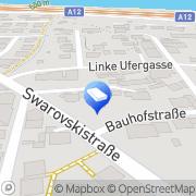 Karte Schwaninger Taxi Wattens, Österreich