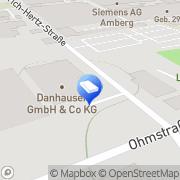 Karte Danhauser Bauzentrum Amberg, Deutschland