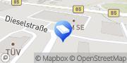 Karte TÜV SÜD Service-Center Amberg Amberg, Deutschland