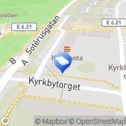 Karta Kyrkbytorgets Skomakeri & Låsservice Göteborg, Sverige