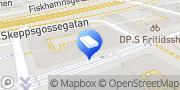 Karta frisörmästarn i majorna Göteborg, Sverige