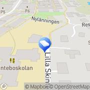 Karta Föräldrakooperativet Skattkammaren Billdal, Sverige