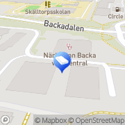 Karta Kuggen Backa, Sverige