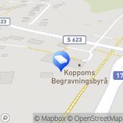 Karta Koppoms Begravningsbyrå Koppom, Sverige