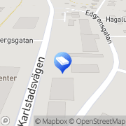 Karta HPJ Maskin AB Åmål, Sverige